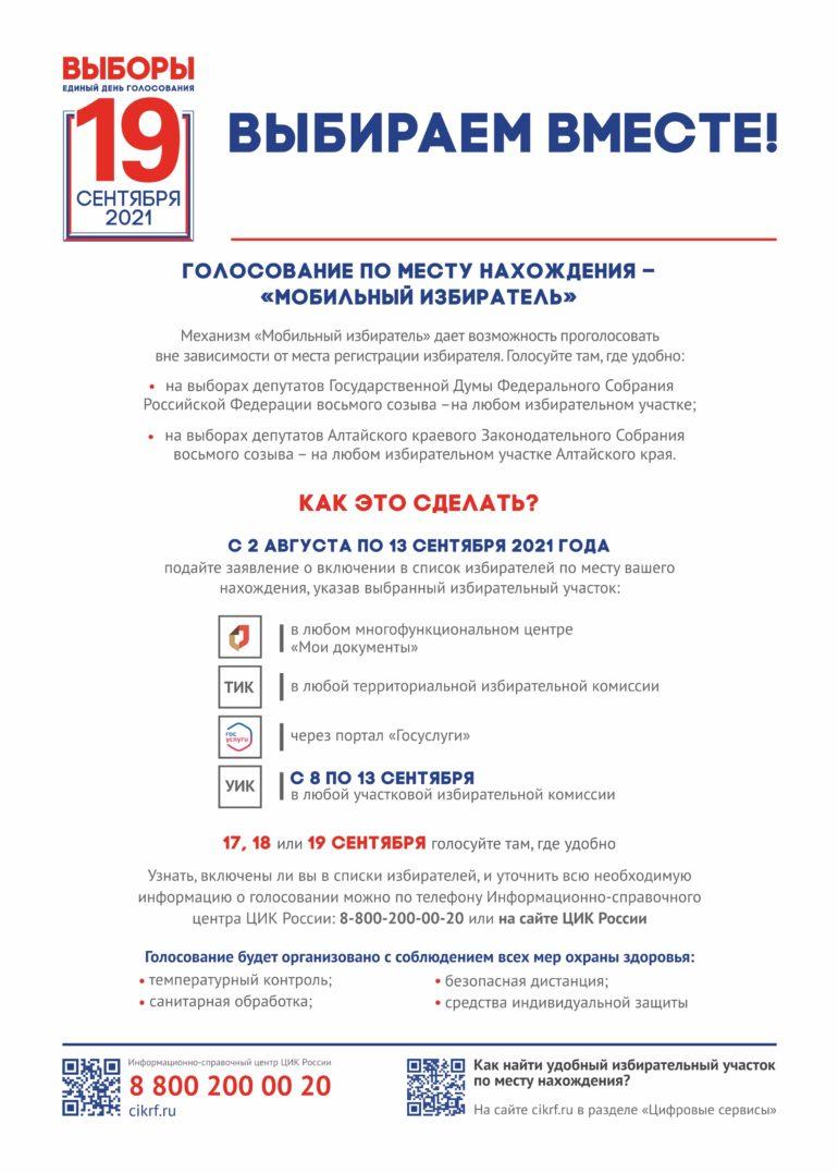 Плакат Мобильный избиратель
